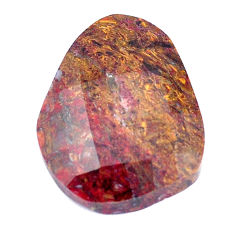 Natural 21.45cts pietersite (african) brown faceted 26x20mm loose gemstone s7569