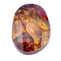 Natural 21.30cts pietersite (african) brown faceted 26x18mm loose gemstone s7577