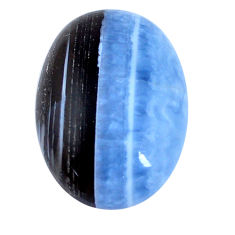 Natural 21.30cts owyhee opal blue cabochon 27x18 mm oval loose gemstone s7591