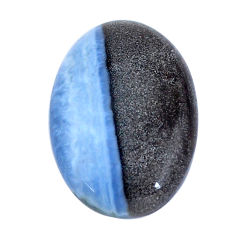 Natural 26.30cts owyhee opal blue cabochon 25x17.5 mm oval loose gemstone s7593