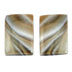 Natural 18.45cts striped flint ohio pair 18x12 mm octagan loose gemstone s7643