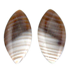 Natural 16.45cts striped flint ohio 24x12 mm marquise pair loose gemstone s7646
