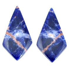 Natural 13.45cts sodalite orange cabochon 31x15 mm pair loose gemstone s7785