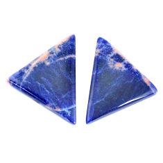Natural 11.30cts sodalite orange cabochon 23x17 mm pair loose gemstone s7790