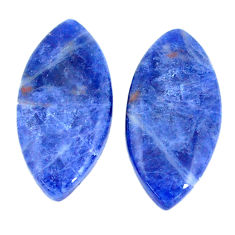 Natural 14.35cts sodalite blue pair 23x11mm marquise loose gemstone s7797