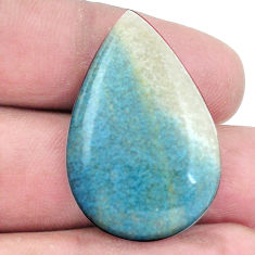 Natural 27.40cts dumortierite blue cabochon 33.5x22 mm pear loose gemstone s7842
