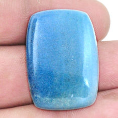 Natural 32.40cts dumortierite blue cabochon 33x22mm octagan loose gemstone s7855