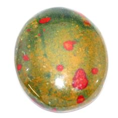 Natural 36.30cts bloodstone african (heliotrope) 29x25 mm loose gemstone s7904