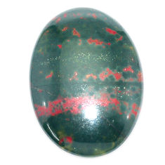 Natural 25.10cts bloodstone african (heliotrope) 27x20 mm loose gemstone s7909