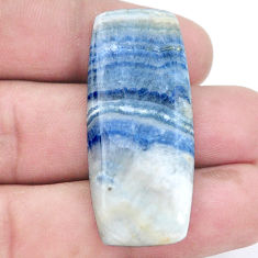 Natural 33.45cts blue scheelite 42x17.5mm loose gemstone s7928