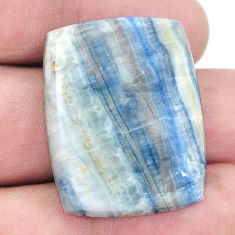 Natural 37.35cts blue scheelite 31x23.5mm loose gemstone s7935