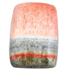 Natural 33.45cts celestobarite orange cabochon 26x17.5 mm loose gemstone s7974