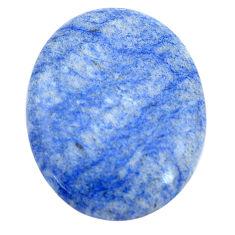 Natural 26.20cts blue quartz palm stone cabochon 30x23.5 mm loose gemstone s7990