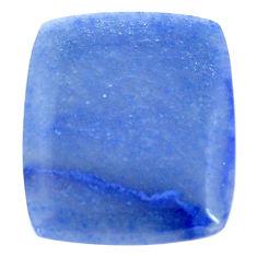 Natural 25.15cts blue quartz palm stone cabochon 28.5x24 mm loose gemstone s7993