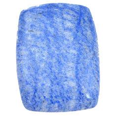 Natural 33.40cts blue quartz palm stone cabochon 30x22 mm loose gemstone s7995