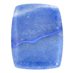 Natural 28.40cts blue quartz palm stone cabochon 33x24 mm loose gemstone s7996