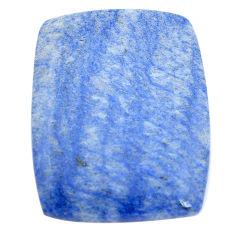 Natural 33.45cts blue quartz palm stone cabochon 32x25 mm loose gemstone s7997
