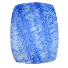 Natural 31.30cts blue quartz palm stone cabochon 31x23 mm loose gemstone s7998