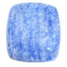 Natural 17.40cts blue quartz palm stone cabochon 20x17 mm loose gemstone s8000