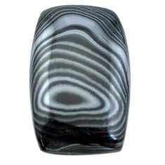 Natural 25.10cts psilomelane black cabochon 26x16mm octagan loose gemstone s8063