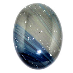 Natural 30.15cts swedish slag blue cabochon 29x20.5 mm oval loose gemstone s8109
