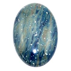 Natural 22.40cts swedish slag blue cabochon 28x18.5 mm oval loose gemstone s8114