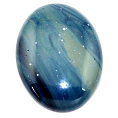 Natural 21.30cts swedish slag blue cabochon 25x18.5 mm oval loose gemstone s8116