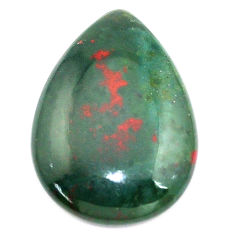 Natural 18.45cts bloodstone african green 26x18.5 mm pear loose gemstone s8137