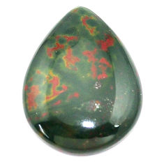 Natural 19.35cts bloodstone african green 26x20 mm pear loose gemstone s8139