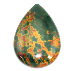 Natural 23.45cts bloodstone african (heliotrope) 31x21 mm loose gemstone s8142