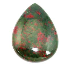 Natural 16.30cts bloodstone african (heliotrope) 26x19 mm loose gemstone s8145