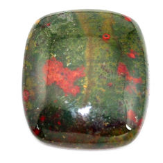 Natural 37.35cts bloodstone african (heliotrope) 28x23.5 mm loose gemstone s8155