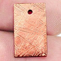 14.45cts copper nugget cabochon 16x9 mm octagan loose gemstone s8177