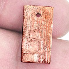 Natural 11.30cts meteorite gibeon copper 17x8.5 mm octagan loose gemstone s8191