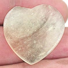 Natural 18.45cts libyan desert glass cabochon 25x25mm heart loose gemstone s8242