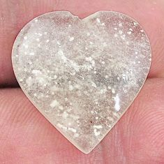 Natural 11.30cts libyan desert glass cabochon 20x20mm heart loose gemstone s8243