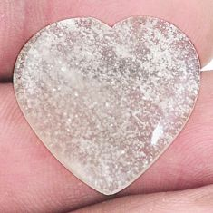 Natural 12.35cts libyan desert glass cabochon 21x22mm heart loose gemstone s8244