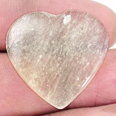 Natural 19.45cts libyan desert glass cabochon 25x26mm heart loose gemstone s8245