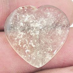Natural 11.20cts libyan desert glass cabochon 22x23mm heart loose gemstone s8253