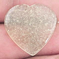 Natural 13.45cts libyan desert glass cabochon 23x23mm heart loose gemstone s8258
