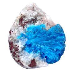 Natural 15.10cts cavansite blue rough 22x16.5 mm fancy loose gemstone s8371