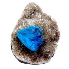 Natural 7.35cts cavansite blue rough 19x13 mm fancy loose gemstone s8372
