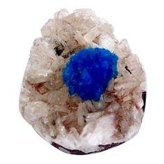 Natural 6.25cts cavansite blue rough 16x12.5 mm fancy loose gemstone s8373