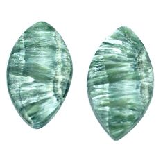 Natural 10.10cts seraphinite (russian) green 21x12 mm loose gemstone s8770