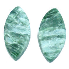 Natural 17.40cts seraphinite (russian) green 24x11.5 mm loose gemstone s8777