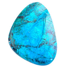 Natural 31.30cts peruvian chrysocolla blue 37x26 mm fancy loose gemstone s8815