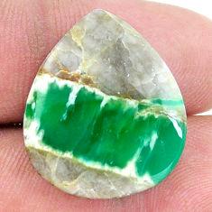 Natural 17.35cts variscite green cabochon 23x20 mm heart loose gemstone s8866