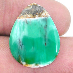 Natural 13.10cts variscite green cabochon 23x17.5 mm pear loose gemstone s8871
