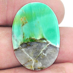 Natural 14.35cts variscite green cabochon 27x19 mm oval loose gemstone s8877