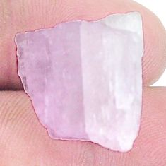 Natural 34.45cts kunzite rough pink rough 20x17 mm fancy loose gemstone s8962
